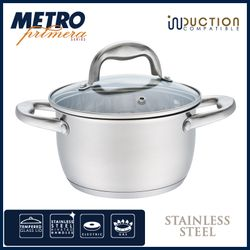 Metro Primera MPCW 1805 18cm Stainless Steel Casserole with lid
