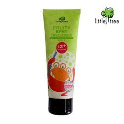 Little Tree Fruity Fresh Toothpaste 12+months Monster Series Apple 25ml
