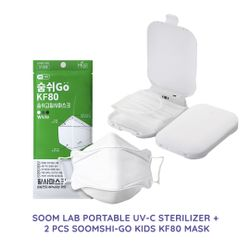 SOOM LAB Portable UVC Sterilizer with Soomshi-Go Kids Mask Bundle