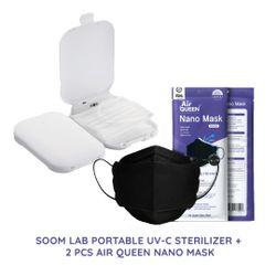SOOM LAB Portable UVC Sterilizer with Air Queen Mask Bundle