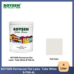 BOYSEN Permacoat Flat Latex  Tulle White B-706-4L
