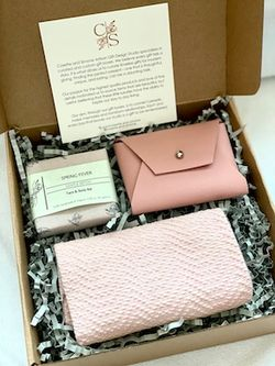 Soap Bar, Leather Coin Purse, and Handwoven Hand Towel Set
