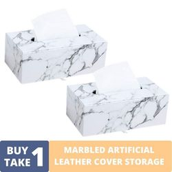 BUY1TAKE1 - MARBLED ARTIFICIAL LEATHER COVER STORAGE