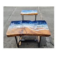 Ocean Waves Resin Table