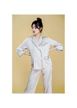 Intissimo Anastasia (Beige) Silk Long Pyjama