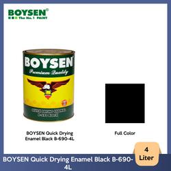 BOYSEN Quick Drying Enamel Black B-690-4L