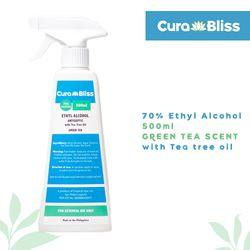 Curabliss 70% Ethyl Alcohol Green Tea scent with Tea tree oil 500ml