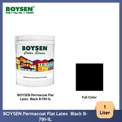 BOYSEN Permacoat Flat Latex  Black B-791-1L