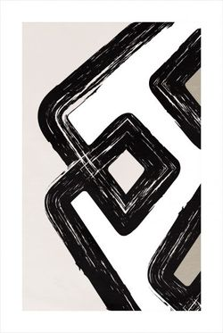 """BRUSH STROKE AND SHAPE NO. 1 POSTER 11x15"""""""