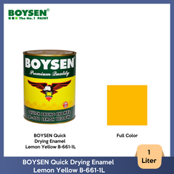 BOYSEN Quick Drying Enamel Lemon Yellow B-661-1L