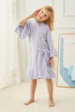 Intissimo Silk Lace Robe Ruffles Teens (Lavender)