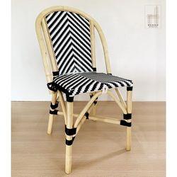 Ahedres Rattan Chair Black & White