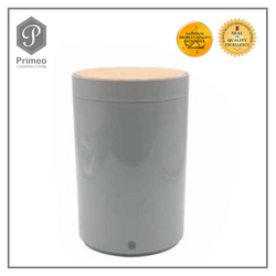 Primeo Bathroom Accessories Bamboo Gray Series Waste Bin