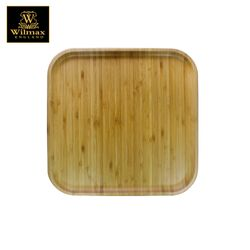 Wilmax Natural Bamboo Square Serving Platter / Tray 14 x 14 inch