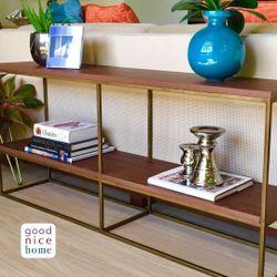 Good Nice Home Skinny Modern Bookshelf - Long
