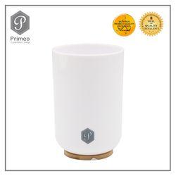 Primeo Bathroom Accessories Bamboo White Series Tumbler