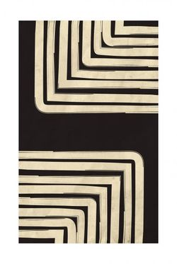 """BLACK AND BEIGE ART 11 POSTER 15x19"""""""