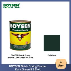 BOYSEN Quick Drying Enamel Dark Green B-651-4L