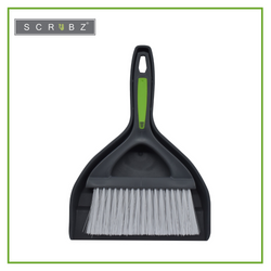 SCRUBZ Heavy Duty Cleaning Essentials Easy Grip Premium Dustpan with Brush (Brush 24cm X 14cm Dust Pan - 18cm X 25cm)
