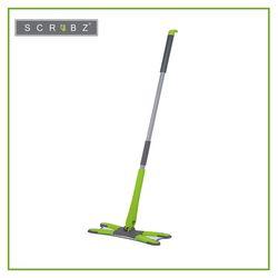 SCRUBZ Heavy Duty Cleaning Essentials Easy Grip Premium Microfiber 360 X-Type Flat Mop 30 X 12cm X 130cm