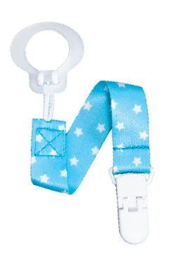 Tickled Babies RazBaby Pacifier Holder - Blue Stars