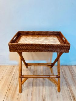 Manang.ph Capiz Tray with Folding Table (PRE-ORDER)