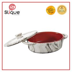 Slique Marble Oval Mini Baking Dish 200 ml with Lid