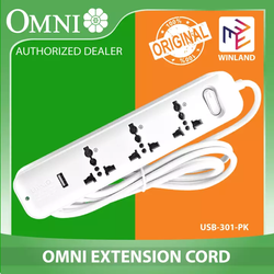 OMNI Travel Extension Cord 3 Gang w/ USB Outlet - USB-301