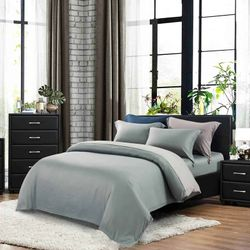 Kinu Bed and Bath Everett Duvet 4 Piece Set SuperKing