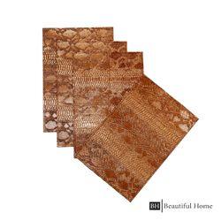 Beautiful Home Rectangle Metallic Placemat Set of 4