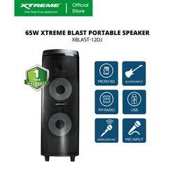 XTREME 65W One Way Portable Speaker System (XBLAST-12DJ)