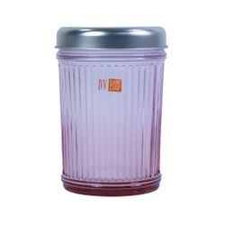 INDUSTRIAL CHIC JAR H.15cm PINK with ALUMINUM LID (7522.2)