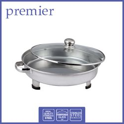 PREMIER	PFS 5440	STAINLESS STEEL ROUND FOOD SERVER W/ GLASS LID