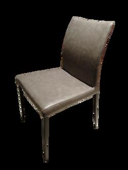 Halo Design Alex  Dark Brown P.U Leather Chair Black Metal Legs