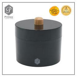 Primeo Bathroom Accessories Bamboo Black Series Cotton Jar