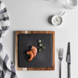 Happy Home PH Wood and Rock Tray Plate (Square)