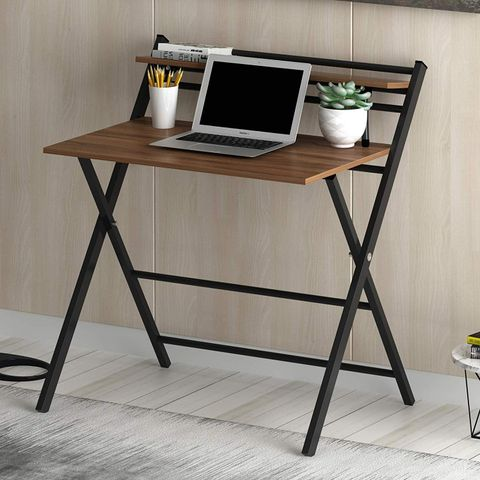 Enzo Foldable Desk - Dark Brown
