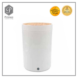 Primeo Bathroom Accessories Bamboo White Series Waste Bin