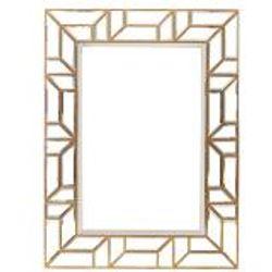 Nest Design Lab Golden Leaf Wall Mirror Rectangle