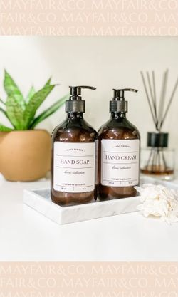 Mayfair & Co. KENSINGTON BPA-Free Hand Soap & Hand Cream 500mL Set of 2 - LABELLED COLLECTION