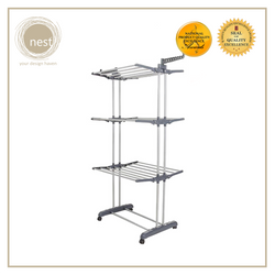 Nest Design Lab Garment Rack Stainless Steel 3 Layer 73x48x170 cm Grey Dark Premium Heavy duty  Durable Amazing Gift Idea For Any Occasion!