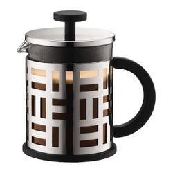 Bodum EILEEN FRENCH PRESS COFFEE MAKER,4cup, 0.5L,17oz,CHROME-SHINY/11196-16