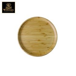 Wilmax Natural Bamboo Round Serving Platter / Tray 6''