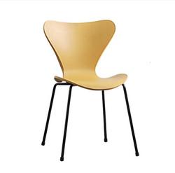 AH1 Mustard Resin Base Stackable Chair