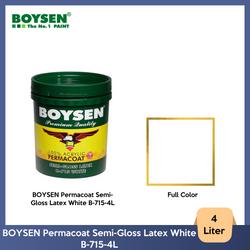 BOYSEN Permacoat Semi-Gloss Latex White B-715-4L