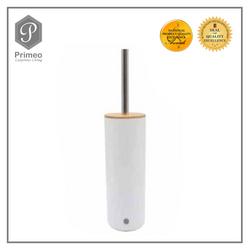 Primeo Bathroom Accessories Bamboo White Series Toilet Brush