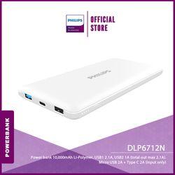 Philips DLP6712N Powerbank 10,000mAh Li-Polymer, USB1 2.1A, USB2 1A