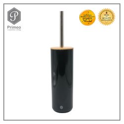 Primeo Bathroom Accessories Bamboo Black Series Toilet Brush