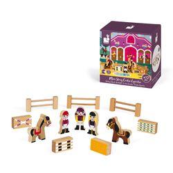 Janod Mini Story Box Toy - Riding School