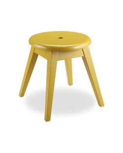 Sol Stool Mustard Yellow wood finished
